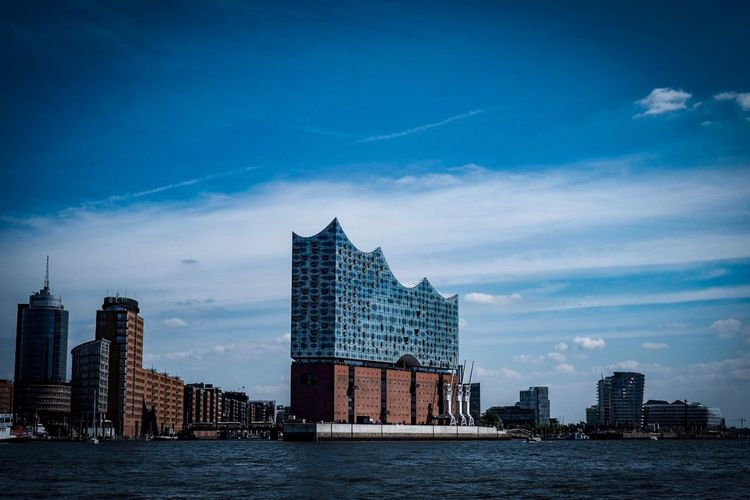 Elphie Elbphilharmonie Hamburg EyeEm Selects Built Structure Architecture Building Exterior Sky City Water Building Waterfront Travel Destinations Outdoors