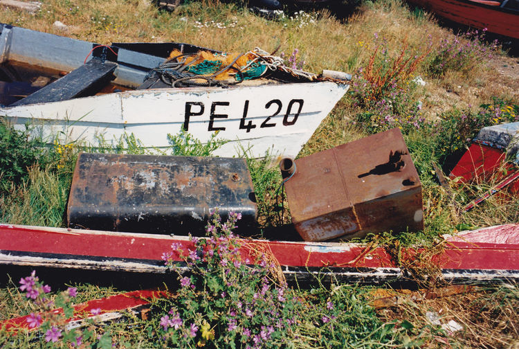 Text Western Script Communication Day No People Welcome Sign Outdoors Flower Nature Close-up Boats Boat Yard Ships Chandlers Scrap Yard Breakers Yard Old Boats Film Photography