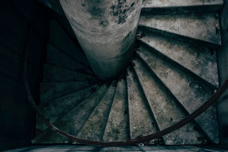 The Graphic City Besancon Staircase Steps And Staircases Steps Abandoned Indoors  Architecture Low Angle View