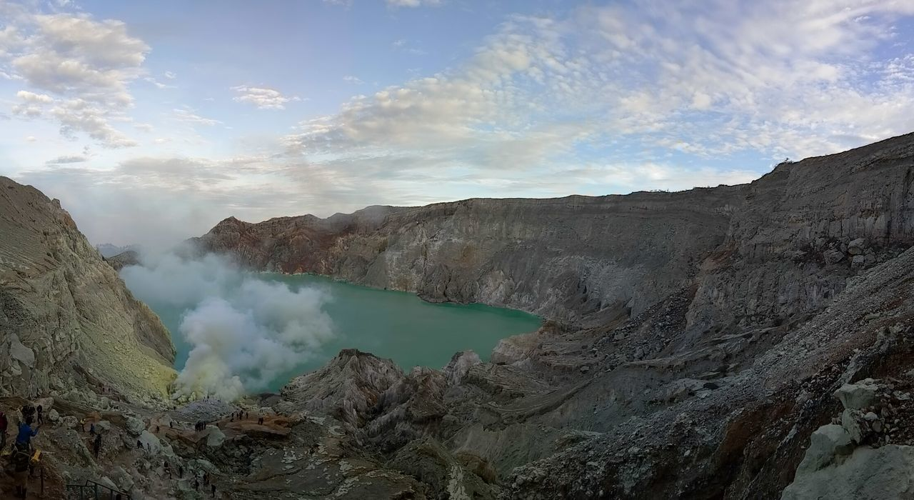 Ijen crater Volcano Volcanic Crater Sulphur Lake Mountain Nature Volcanic Landscape Blue Landscape Outdoors Sky Panorama Lake View Connected By Travel Pesonaindonesia Travel Photography Sulfur Mountain Amazingindonesia Tourism Destination Indonesiamountain Wonderful Indonesia Ijen Crater IjenMountain National Geographic Indonesiaindah