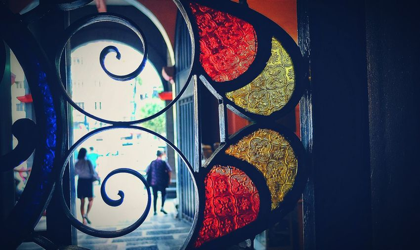 Through a textured looking glass. Textured Glass Cathedral Window Stained Glass Framing Framing The Subject Light And Shadow Showcase: December Eye4photography  Followfriday Church People Streetphotography Inside The Church Churchgoers Religion Fujifilm Fujifilm_xseries FujiFilm X20 Welcomeweekly