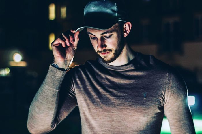 Living his best life Modeling Model Fashion Photography Fashion Halloween Young Adult Waist Up Young Men Men Emotion Leisure Activity Illuminated Casual Clothing EyeEmNewHere EyeEmNewHere
