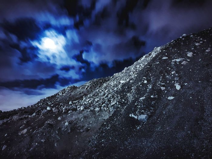 Night No People Low Angle View Sky Winter Snow Cloud - Sky Outdoors Nature Star - Space Galaxy
