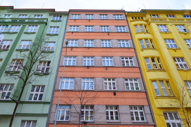 Architectural Feature Multi Colored Colourful Pastel Colors Urban Lifestyle Urban Urbanphotography Cityexplorer Architecture Building Exterior Window Low Angle View Built Structure Residential Building Business Finance And Industry Apartment City