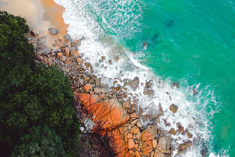 Dronephotography Droneshot Drone Moments Drone View Drone Dji Djispark Green Color Green Drone  Aerial Photography Aerial Landscape Aeril Shot Drones Dramatic Sky Aerial View Water Wave Sea Tree Beach High Angle View