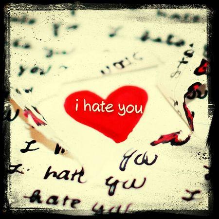 i hate you :* Hiho
