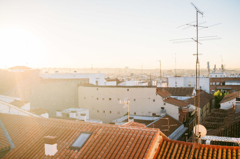 Cityscape Against Sky On Sunny Day