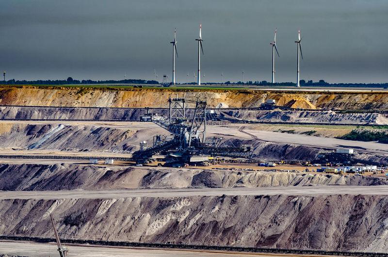 Gold Mine Digging Machine On Landscape