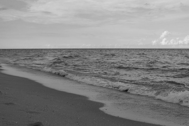 Nothing quite like the beach! CanonT6 Canonphotography Bnw_friday_eyeemchallenge Water Beach Life