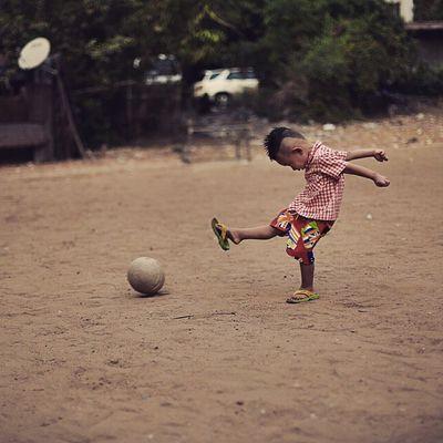 Little Striker Playing Football independenceday igersburmeseigers igersmyanmar narcoticphotography photooftheweek photooftheday yangon burma myanmar