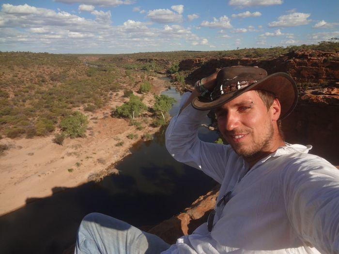 Self Portrait Around The World Australia Kalbarri Nationalpark Hawkshead Selfie ✌ Starting A Trip Hat Hello World WesternAustralia