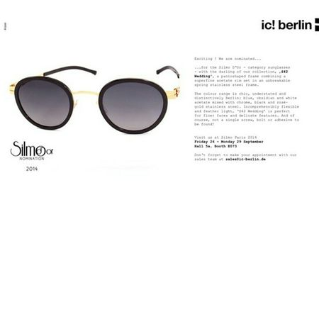 Icberlin model sf42 wedding was nominated for best sunglass at Silmo ! Its now available at Jamesleonard Opticians !!! nyc Eyewear sunglasses Screwless limitededition westvillage west4