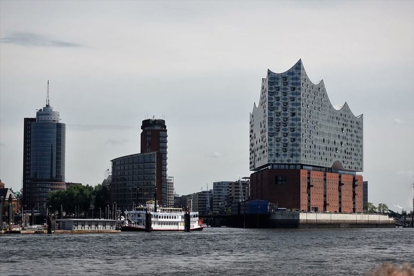 Hafen, Speicherstadt Architecture Building Exterior Built Structure City Cityscape Day Downtown District Elbphilharmony Futuristic Modern No People Outdoors Sky Skyscraper Tower Travel Travel Destinations Urban Skyline Water