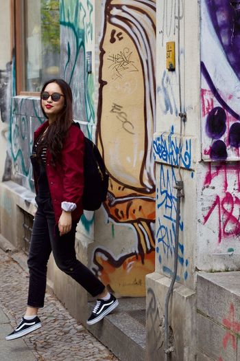 Give yourself some spin! Colorful EyeEmNewHere Portrait Streetphotography Urbanphotography One Person Colors Sunglasses Young Adult Gameoftones Color Cheerful