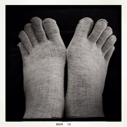 Toe socks! Hipstamatic Socks Two Of A Kind