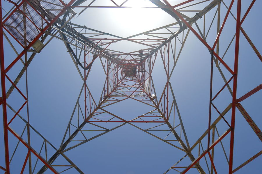 Teletower Clear Sky Connection Connection And Communication Day Low Angle View Outdoors Technology