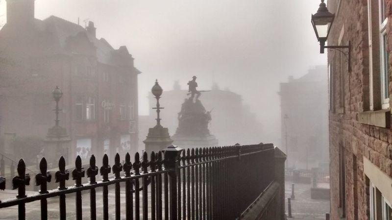 Winter Fog Monument Fog No People Architecture Oldham