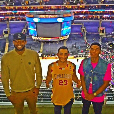 Great night with the crew! Clippers Cavaliers Staplescenter Losangeles La Lac Cavs NBA Lobcity