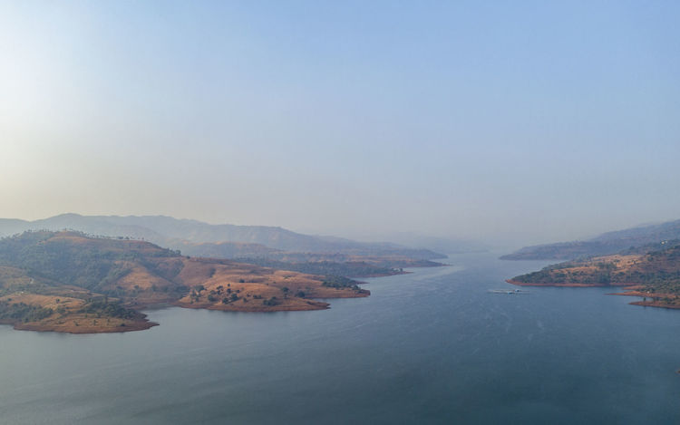 aerial view Pune India Landscape_photography Landscapes Nature Aerial View Dronephotography Dji Drone  Pattern Dronephotography Aerial Photography Photography Morning Lake Water Sea Fog Sky Boat Calm Sailing Wake - Water Water Vehicle