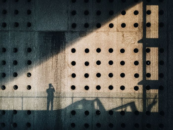 Shadow One Person Outdoors Abstract Pattern IPhone IPhoneography Sillouette Minimalism Goldenhour Hard Shadow Mexico Culture Shapes Shapes And Forms Building
