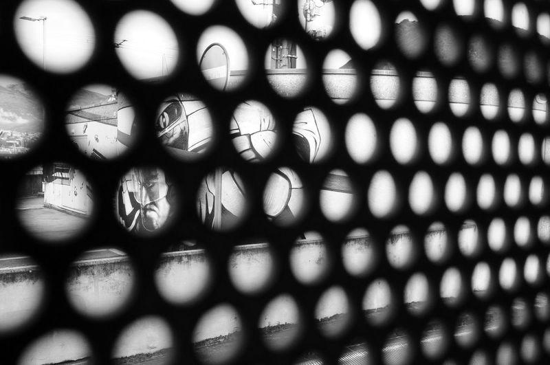 Full frame shot of patterned fence