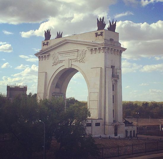 The South gates of Volgograd City Architecture No People Arch River Ship шлюз Волгоград корабль Travel Building Exterior First Eyeem Photo