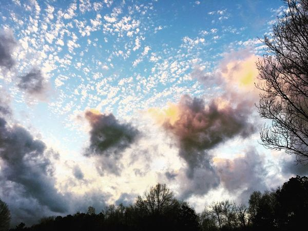 Spring In The Winter December Sky Winter Clouds Cloud Formation Nature