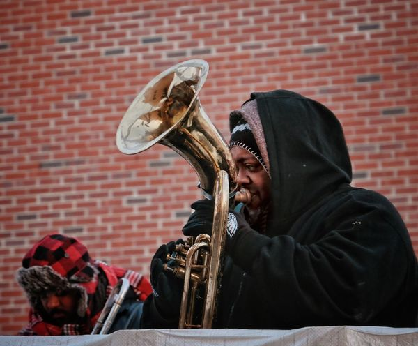 MummersParade2018 Phillygram Phillylove ❤️ Musical Instrument Music Brick Wall One Person Playing Real People Wind Instrument Trumpet Musician Jazz Music Day