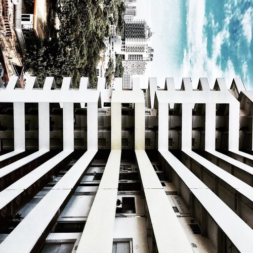 :TRACKS: Architecture Sky Built Structure IPhoneography Taking Photos Iphonegraphy Iphonephotography Color Photography UrbanART Singapore City Architecture Tanboonliatbuilding ExploreSingapore
