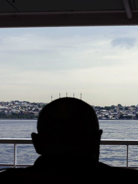 Streetphotography Street Photography Urban EyeEm Lines Silhouettes People Istanbul Landscape Water Sea City Nautical Vessel Cityscape Silhouette Sky Architecture Cloud - Sky