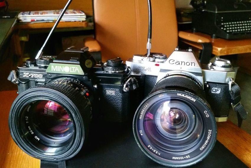 Analog Photography Canon AL-1 Minolta X700 Vintage Cameras