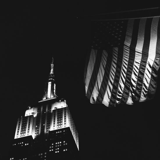 """I have a dream that my four little children will one day live in a nation where they will not be judged by the color of their skin, but by the content of their character."" MLK Bnwphotography NYC Photography NYC EyeEm Bnw_collection Blackandwhite Photography MartinLutherKingJr Martinlutherking Mlkday MLK Architecture Building Exterior Built Structure Low Angle View Night No People City"