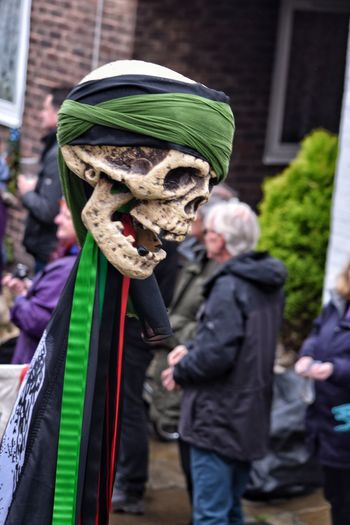 Jack In The Green Festival East Sussex Hastings May Day 2017 Green Color Skull Skulls Focus On Foreground Close-up Performing Arts Event May Day Headshot Celebration Arts Culture And Entertainment Traditional Festival Performance Scary Excentric Parade Festival Season Festival Time Spring Outdoors Day Front View