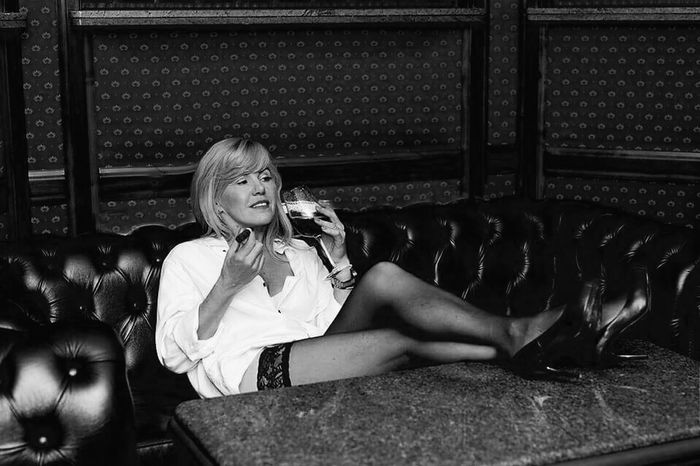 Sitting Blond Hair One Person Beautiful Woman Drink Wine Sensual_woman Cigarette  Cigarette Time