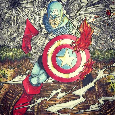 Illustrator Captain America Check This Out Drawing