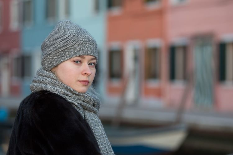 Mary My Daughter Portrait Burano Real People Warm Clothing One Person Portrait Looking At Camera Focus On Foreground Lifestyles Architecture Young Adult Close-up Winter Day Young Women
