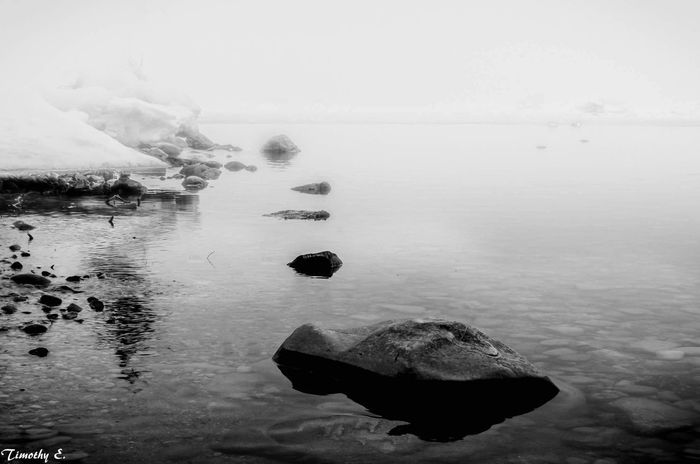 Stepping stones Reflection Water - Collection Blackandwhite Photography NikonLife Monochrome Canada Coast To Coast Nikon D7000 Goderich Ontario Ontario Canada Lake Huron, Canada Reflection Water Outdoors Landscape Reflections In The Water Lights And Shadows