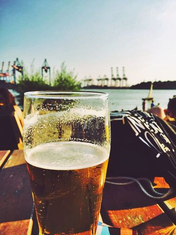 Beer Clear Sky Day Drink Drinking Glass Focus On Foreground Food And Drink No People Outdoors Refreshment Sky Eye4photography  Exceptional Photographs Popular Photos Feeling Thankful EyeEm Best Shots Tour Port Life Tourist Walking Around Taking Pictures Feeling Blessed Places And Spaces Best EyeEm Shot Sightseeing Landscape