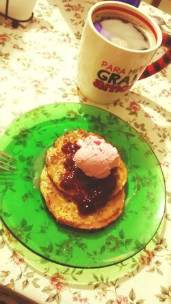 Calorias Cajeta Hotcakes Mermelada Helado Americano La combinación perfecta 😍☕🍦