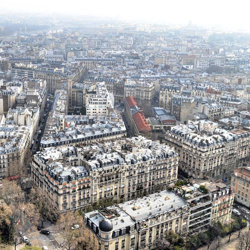 Cityscape Day Outdoors Aerial View No People Architecture City Sky Nature Eiffel Tower View Aerial Panorama Eiffel Tower View From Paris