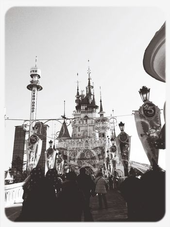 Adrenaline junkies Roller Coaster Long Lines Castle Fortheloveofblackandwhite