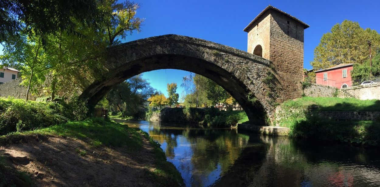 Ponte di San Francesco Architecture Built Structure Building Exterior Arch Water Reflection Tree History Outdoors Nature Sky Clear Sky No People