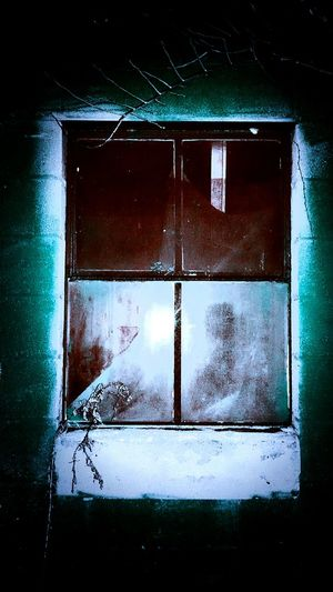Windows Glass Reflections Colors Edit Creepy Creepy Window Spooky Atmosphere Spooky Places Ghostly Mysterious Old Buildings Rustic Barn Barns