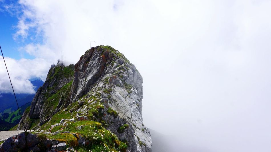 Landscape Switzerland Up In The Clouds Pilatus Two Worlds