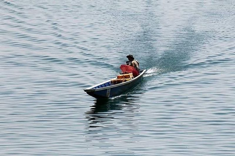 Water Boat Fisherman Fishingboat Fishing Livelihood Lifeasiseeit Namgnum Vientianeprovince Southeastasia Lake Johnnelson