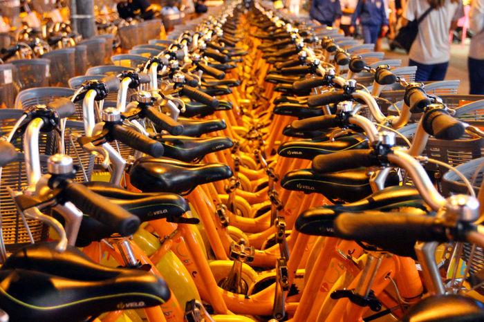 很多很多UBike Abundance Enjoying Life EyeEm Taiwan Landscape Large Group Of Objects Motorcycle The View And The Spirit Of Taiwan 台灣景 台灣情 Transportation Traveling Ubike