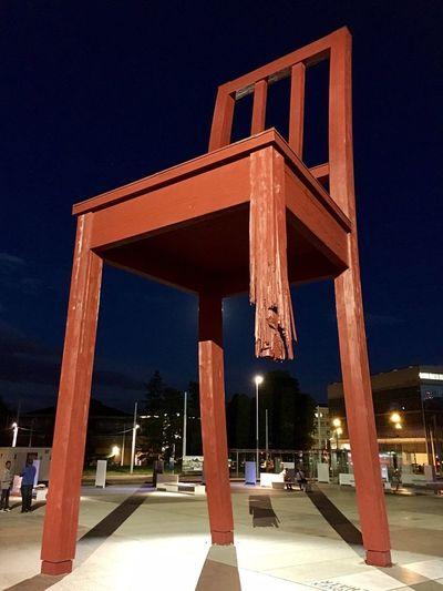 Broken Chair Place Des Nations Geneva Mines Landmines Stoplandmines HandicapInternational