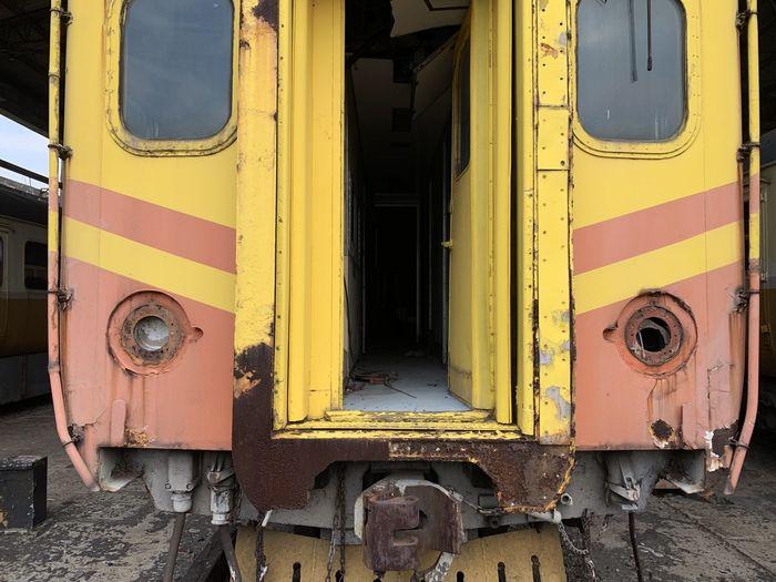 Rusty train outdoors