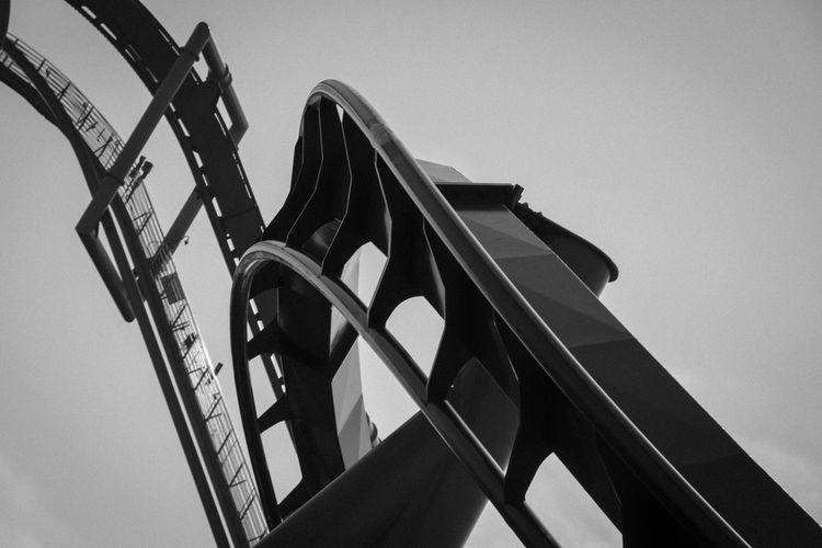 Roller Coaster Rollercoaster Blackandwhite Photography Adrenaline Thrillseeker Twisted Metal