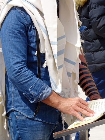 Praying Torah Bar Mitzvah Western Wall Of Jerusalem Western Wall Jerusalem Wailing Wall Kotel Israel Men Orthodox Jews Bar Mitzah Jews Orthodox Tempel Mount Dome Of The Rock Travel Destinations